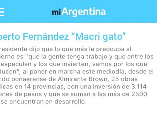 [TRAS LA DERROTA] El presidente lanzó mensajes de campaña dentro de la aplicación Mi Argentina. ...